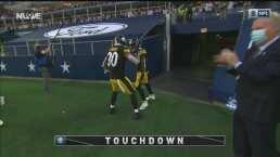 ¡Gran pase del 'Big Ben'! Washington consigue el TD para Steelers