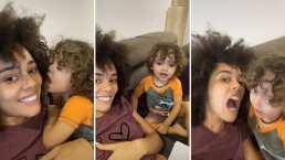 Tadeo, hijo de Brenda Kellerman, enternece al mostrar su talento como actor en TikTok