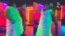 Toña y Brayan Danielle perrean hasta el suelo para festejar la soltería