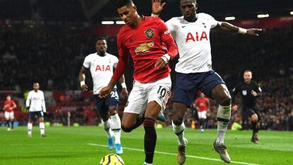 Con doblete de Marcus Rashford al 6 y al 49, Manchester United se impone en casa 2-1 al Tottenham.