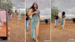 """Mira el video donde Ana Bárbara por poco es atacada por una """"vaca enojona"""""""