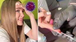 A Belinda le realizan la prueba de Covid-19 y ella reacciona: 'Odio las inyecciones'