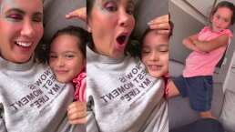 La hija de Mariazel la hace reír al decirle que le gustó cómo mueve la retaguardia