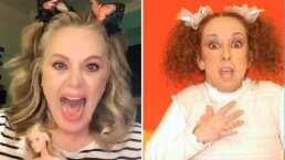 Erika Buenfil provoca risas al hacer tremenda parodia de La Güereja: 'Papiringo, ¿Qué es esto?'