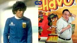 ¡El barril del 10 y del 8! La identidad de Maradona con el Chavo
