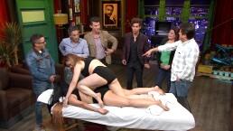 Mauricio Garza se prende durante masaje