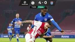 El Ajax goleó y Edson Álvarez volvió a jugar