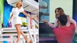 """Andrea Legarreta protagonizó en Hoy un atrevido baile con este galán: """"Se me están viendo los calzones"""""""