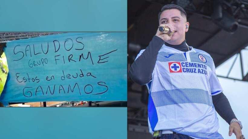Cruz Azul y aficionados le agradecen a Grupo Firme por el apoyo y le recuerdan su promesa de concierto gratis | Experiencias | Bandamax