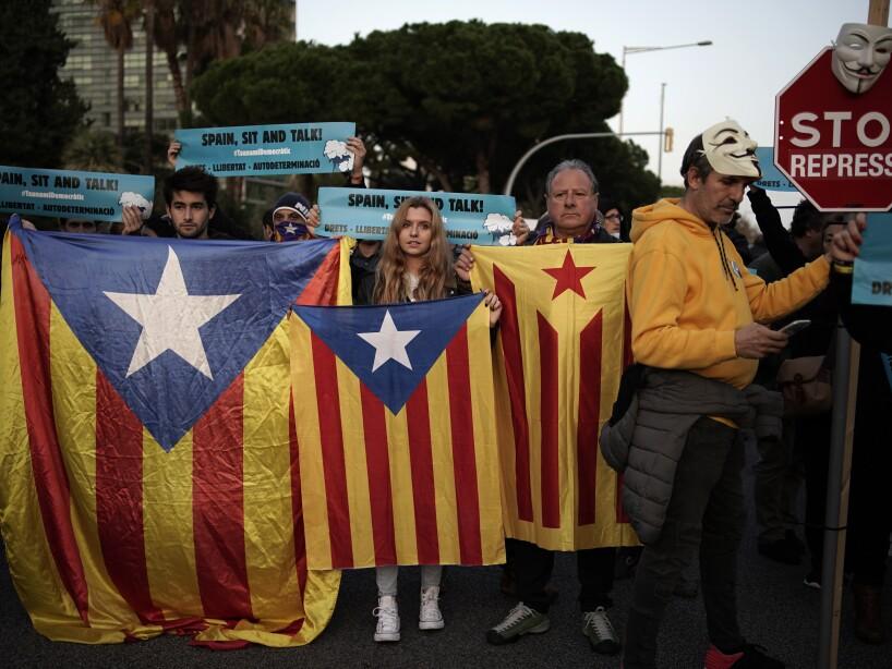 Spain Soccer Clasico Protest