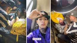 Los impactantes tatuajes que se hizo Natanael Cano y que presumió en redes sociales