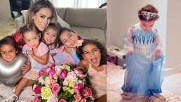 Se convierten en princesas las hijas más pequeñas de Jacky Bracamontes