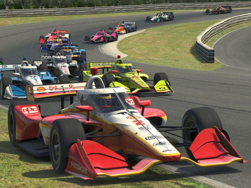 El 'aero screen' ya se ve en las carreras virtuales como un anticipo para cuando vuelvan a la pista.