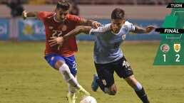 Jonathan Rodríguez le da el triunfo a Uruguay ante Costa Rica