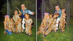 Con mamelucos de animal print, Kim Kardashian y sus hijos se inspiran en 'Tiger King' para sus disfraces