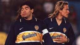 Luis Hernández y Maradona, una historia juntos en el Boca