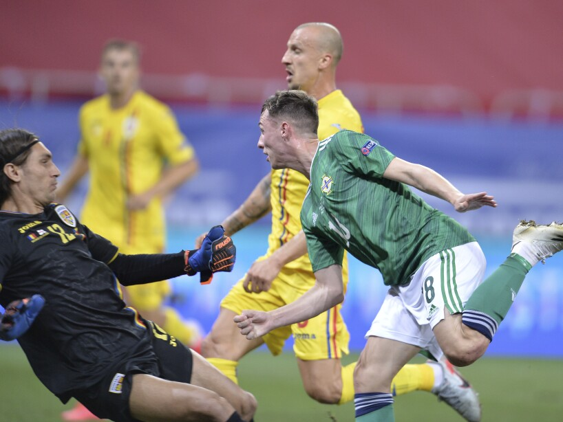 APTOPIX Romania Northern Ireland Nations League Soccer