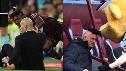 Con mucha intensidad vivieron sus respectivos partidos tanto Zinedine Zidane como José Mourinho.