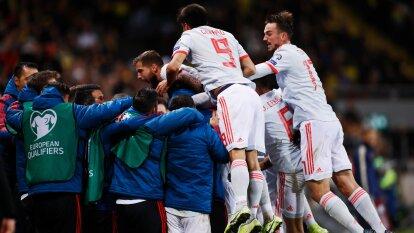 Finlandia 3-0 Armenia; Islas Feroe 1-0 Malta; Suecia 1-1 España; Gibraltar 2-3 Georgia; Rumania 1-1 Noruega; Grecia 2-1 Bosnia y Herzegovina; Liechtenstein 0-5 Italia; Suiza 2-0 Irlanda; Israel 3-1 Letonia.