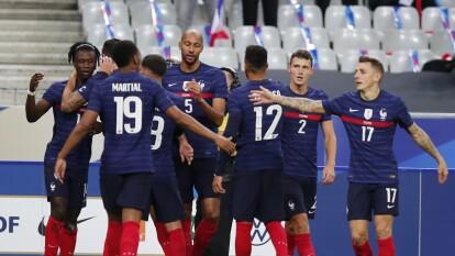 Francia destrozó a Ucrania en amistoso previo a la J3 de la Nations League | La goliza de los galos, el empate de los teutones y más de los amistosos de la UEFA.