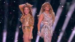 Lo que no se vio en el Super Bowl: JLO le dio tres nalgadas a Shakira en pleno escenario