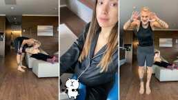 Sharon Fonseca está en trabajo de parto y Gianluca Vacchi calma su estrés bailando y entrenando