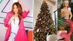 Thalía presume su extravagante y muy 'cool' arbolito de Navidad
