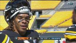 Conexión 'Big Ben'-Claypool de 84 yardas para el 14-3 de Steelers
