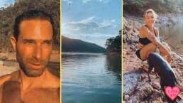 Sebastián Rulli y Angelique Boyer salen a dar una romántico paseo al lago de Valle de Bravo