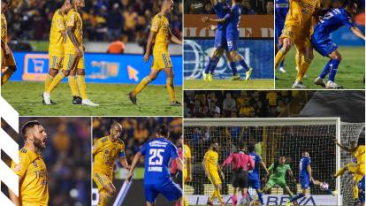 Tigres sufre en casa y evita perder pero acumula cuatro años sin vencer a Cruz Azul en casa.