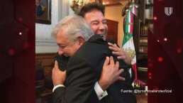 Fernando Allende presume foto con Andrés Manuel López Obrador