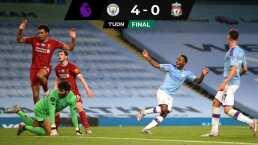 ¡Vaya paseíllo! Manchester City goleó 4-0 al campeón Liverpool