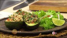 El chef Oropeza cocina unos nutritivos Aguacates Rellenos de Amaranto´ HOY