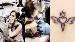 Gloria Trevi se tatuó en honor a su 'tribu' y así reaccionó su mamá al verle el simbólico tatuaje