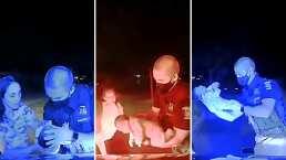 Video: Policía salva la vida de una bebé de dos semanas de nacida