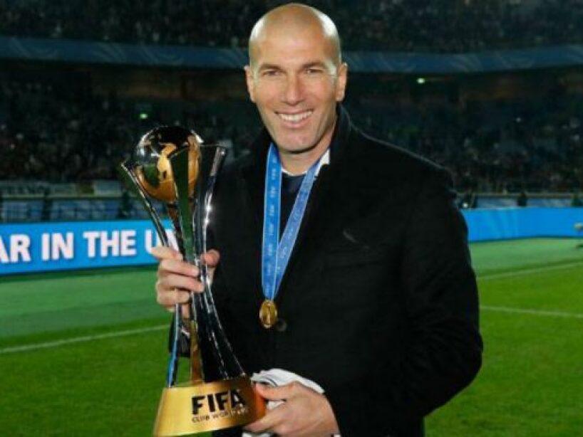 Zinedine Zidane sonriendo