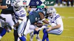 Cowboys decepciona en su visita ante Eagles en la NFL