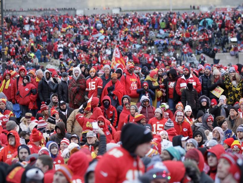 Chiefs Super Bowl Parade Football