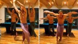 Video: Sebastián Rulli está feliz de ver a sus amigos y lo festeja bailando al lado de ellos