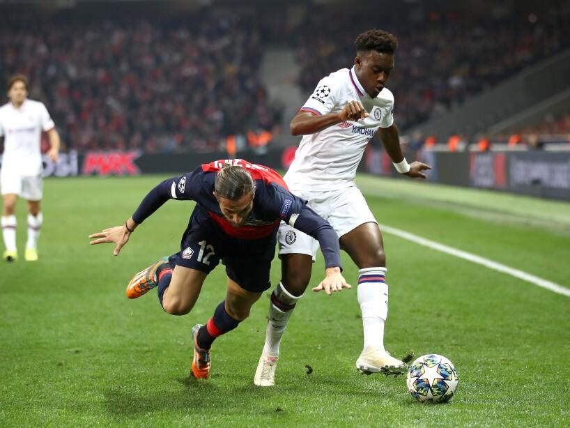 Lille 1-2 Chelsea. Osimhen marcó para el Lille; Abraham y Willian para los de Lampard.