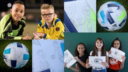 Este es el balón diseñado por niños para la Supercopa | Contará con 18 dibujos creados por proyectos de la Fundación para la Infancia de la UEFA.