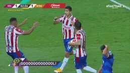 ¡Revive Chivas! Ángel Zaldívar pone el empate 1-1 con un cabezazo