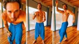 Video: Sebastián Rulli se avienta bailecito matutino y cautiva a sus fans