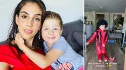 Andrés, hijo de Sandra Echeverría, enternece las redes al disfrazarse como Michael Jackson y bailar como todo un artista