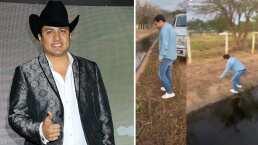 Al ritmo de 'El Sapito', Julión Álvarez demuestra su gran habilidad para cruzar un canal