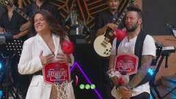 Mariana Echeverría y Faisy se avientan con saña globos con agua