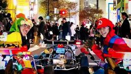 ¡En Tokio puedes jugar 'Mario Kart' en las calles!