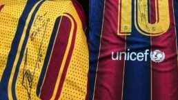 Messi dona tres playeras firmadas en agradecimiento por 50 mil vacunas