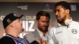 """Ruiz advierte a Joshua en la última conferencia: """"No pienso dejar estos cinturones"""""""