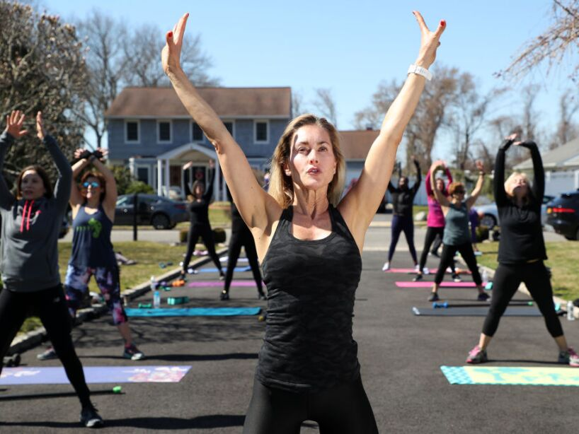 Long Island Fitness Insructor Holds Outside Classes During Coronavirus Pandemic